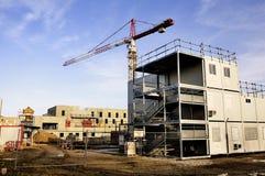 新的大厦建造场所  免版税库存照片