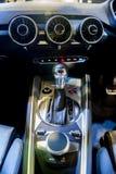 新的奥迪TT小轿车内部在新加坡Motorshow 2015年 图库摄影