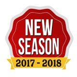新的季节2017-2018标签或贴纸 免版税库存图片