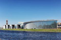 新的室内运动棍打`在Bychy公牛海岛,圣彼德堡上的Yawara内娃` 免版税图库摄影