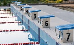 新的室外游泳池在Kranevo,保加利亚 库存图片