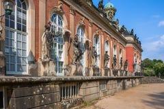 新的宫殿在Sanssouci公园在波茨坦 免版税库存照片