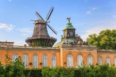 新的宫殿在Sanssouci公园 库存照片