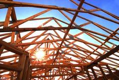 新的家庭住所居民住房修建修造的建筑 库存图片