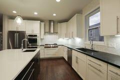 新的家庭厨房 库存照片
