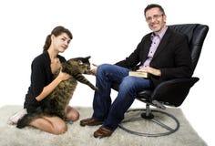 新的家庭宠物猫 免版税图库摄影
