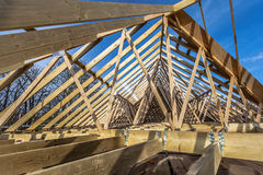 新的家庭建筑 免版税图库摄影