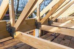 新的家庭建筑 免版税库存图片