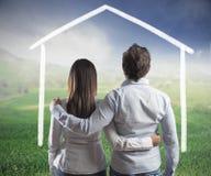 新的家庭 免版税库存图片