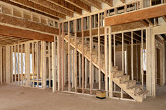 新的家庭Constrution内部 免版税图库摄影