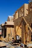 新的家建筑 免版税库存图片