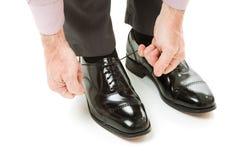 新的对鞋子 免版税库存照片