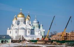 新的寺庙的建筑 免版税库存图片