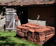 新的屋顶DIY 库存图片