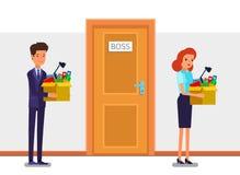 新的工作,聘用和解雇的概念 库存图片