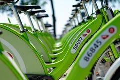 新的布达佩斯自行车聘用叫BUBI 免版税库存图片