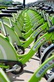 新的布达佩斯自行车聘用 免版税库存图片