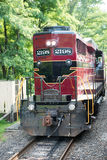 新的希望, PA - 8月11日:新的希望和Ivyland铁路是去在旅游的访客的一条遗产火车线 库存图片