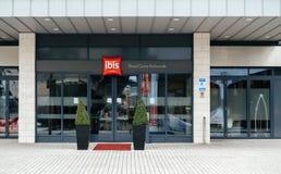 新的干净的朱鹭旅馆入口在英国布里斯托尔 免版税库存照片