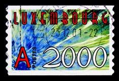 新的年-2000, serie,大约2000年 库存照片