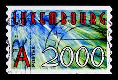 新的年-2000, serie,大约 库存图片