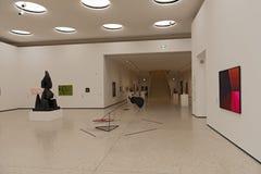 新的当代艺术博物馆内部Staedel博物馆的在法兰克福德国 图库摄影