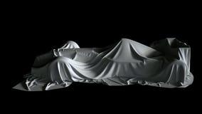 新的惯例1汽车的介绍在陈列的 超HD 4K 在布料下 向量例证
