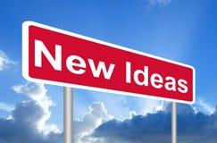 新的想法标志 免版税库存图片
