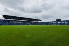 新的我流动体育场在武里喃府,泰国 免版税库存图片