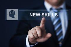 新的技能知识Webinar训练企业互联网技术概念 免版税图库摄影