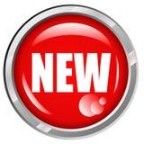 新的按钮 免版税库存图片