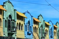 新的摄政的街道在克赖斯特切奇-新西兰 库存图片