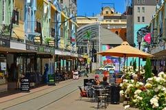 新的摄政的街道在克赖斯特切奇-新西兰 免版税库存图片