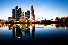 新的摩天大楼莫斯科商务中心。 免版税库存图片