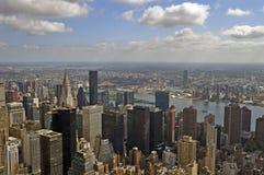 新的摩天大楼顶视图约克 库存图片