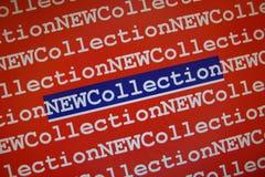 新的收藏 免版税库存图片