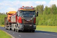 新的斯科讷卡车运输长跑训练机械 库存照片