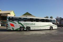 新的斯科讷Greenbus公司15米公共汽车  库存照片