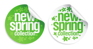 新的春天收集贴纸。 免版税库存照片