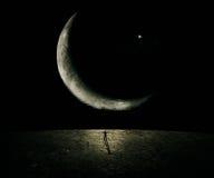新的月亮 免版税库存图片