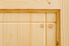 新的木制品 一部分的木门 免版税图库摄影