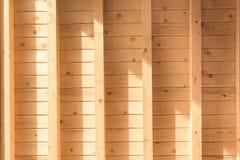 新的木墙壁 免版税库存照片