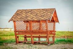 新的木眺望台 免版税库存照片