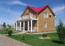 新的村庄在手段埃尔顿伏尔加格勒地区 库存照片