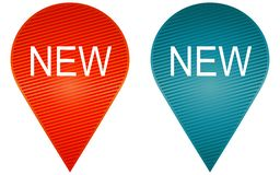 新的标志象 免版税库存照片
