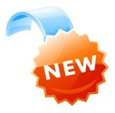 新的标签 免版税库存照片
