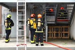 新的格拉斯哥消防队 库存照片