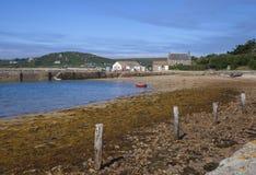 新的格里姆斯比, Tresco,锡利群岛,英国 图库摄影