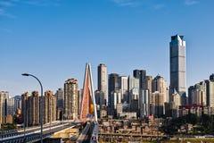新的桥梁在重庆市 免版税库存照片