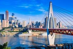 新的桥梁在重庆 免版税图库摄影